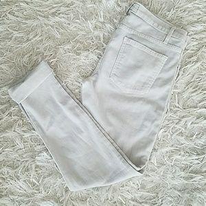 Current/Elliott The Roller grey lavender jeans